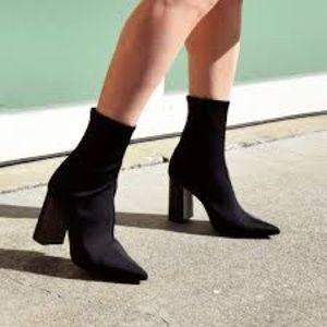 Jeffrey Campbell Black Siren Stretch Sock Booties